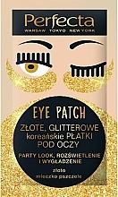 Parfums et Produits cosmétiques Patchs à l'Or pour contour des yeux - Perfecta Gold Glitter Eye Patch