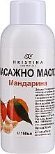 Parfums et Produits cosmétiques Huile de massage à l'huile de tangerine et extrait de tilleul argenté pour corps - Hristina Cosmetics Tangerine Massage Oil