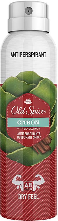 Déodorant spray, Citron et Bois de Santal - Old Spice Citron Dezodorant Spray