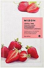 Parfums et Produits cosmétiques Masque tissu à la fraise pour visage - Mizon Joyful Time Essence Mask Strawberry