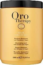 Parfums et Produits cosmétiques Masque illuminant à l'huile d'argan pour cheveux - Fanola Oro Therapy Oro Puro Mask