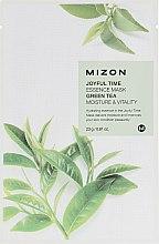 Parfums et Produits cosmétiques Masque tissu à l'extrait de théier pour visage - Mizon Joyful Time Green Tea Essence Mask