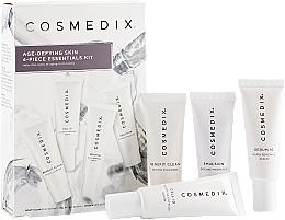 Parfums et Produits cosmétiques Cosmedix Age Defying Skin 4-Piece Essentials Kit - Kit (nettoyant/15ml + sérum/15ml + sérum/15ml + hydratant/15ml)