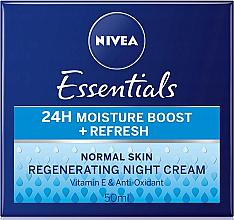 Parfums et Produits cosmétiques Crème de nuit à la vitamine E - Nivea Essentials 24H Moisture Boost + Refresh Cream