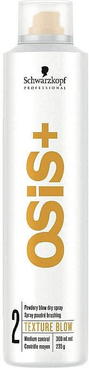 Spray poudré brushing - Schwarzkopf Professional Osis+ Texture Powdery Blow Dry Spray — Photo N1