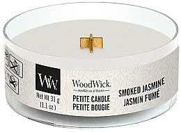 Parfums et Produits cosmétiques Bougie parfumée avec mèche en bois, Jasmin fumé - Woodwick Petite Candle Smoked Jasmine