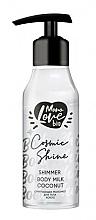 Parfums et Produits cosmétiques Lait scintillant pour corps, Noix de coco - MonoLove Bio Shimmer Body Milk Coconut Cosmic Shine