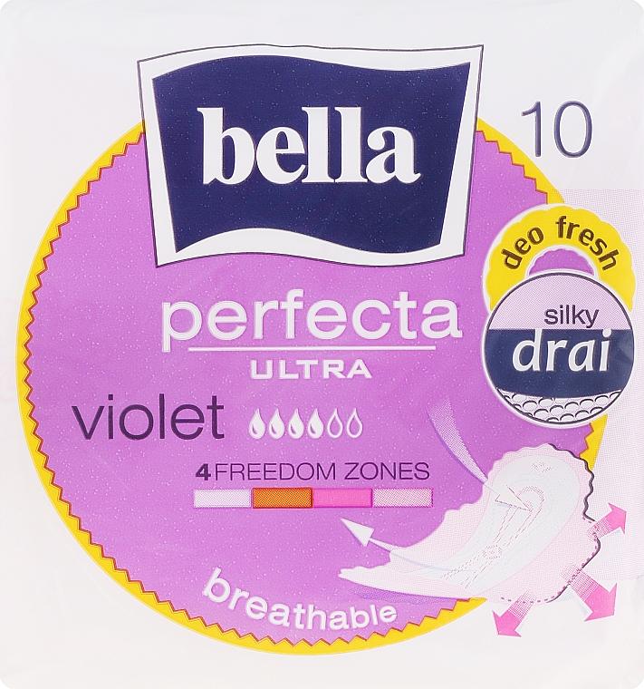 Serviettes hygiéniques, 10pcs - Bella Perfecta Violet Deo Fresh Soft Ultra