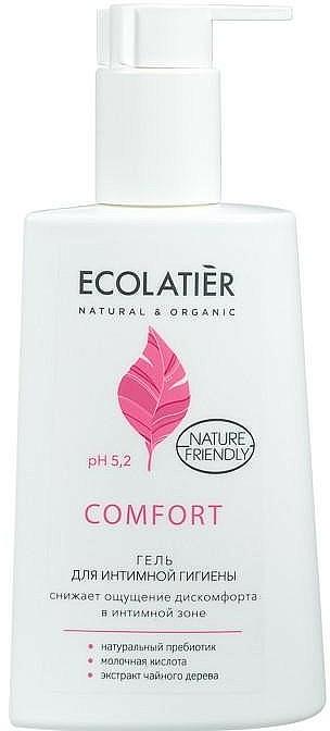 Gel d'hygiène intime à l'acide lactique et prébiotiques - Ecolatier Comfort