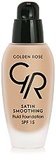 Parfums et Produits cosmétiques Fond de teint - Golden Rose Satin Smoothing Fluid Foundation SPF15