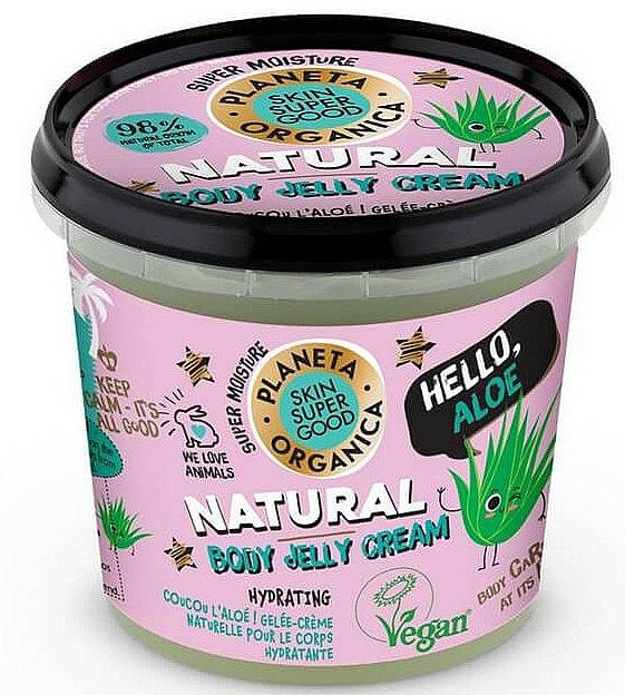 Crème-gel à l'aloe vera pour corps - Planeta Organica Natural Body Jelly Cream Hello Aloe