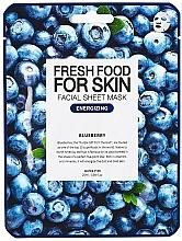 Parfums et Produits cosmétiques Masque tissu énergisant à l'extrait de myrtille pour visage - Superfood For Skin Facial Sheet Mask Blueberry Energizing
